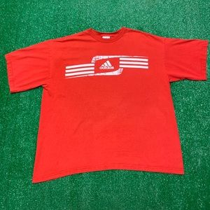 Vintage Adidas Three Stripes Spellout Logo Shirt